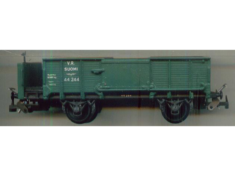 Model of 2-axes wagon with brake platform